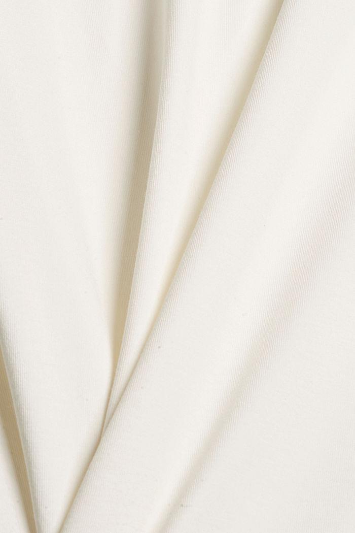 Camiseta de manga larga con cuello alto de algodón ecológico, OFF WHITE, detail image number 4