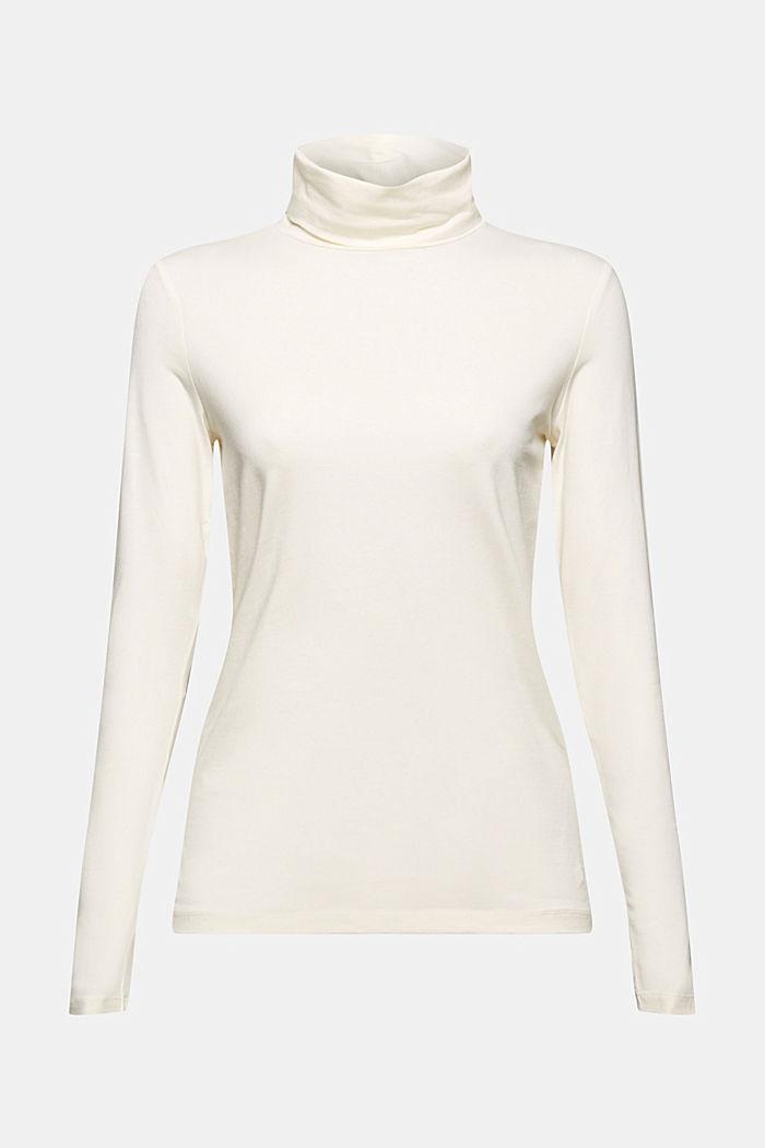 Camiseta de manga larga con cuello alto de algodón ecológico, OFF WHITE, detail image number 6