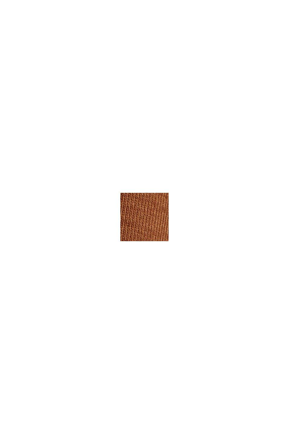 Langærmet top med rullekrave, i økologisk bomuld, TOFFEE, swatch