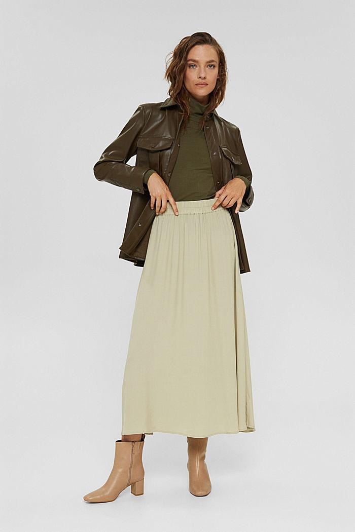 T-shirt à manches longues et col roulé, en coton biologique