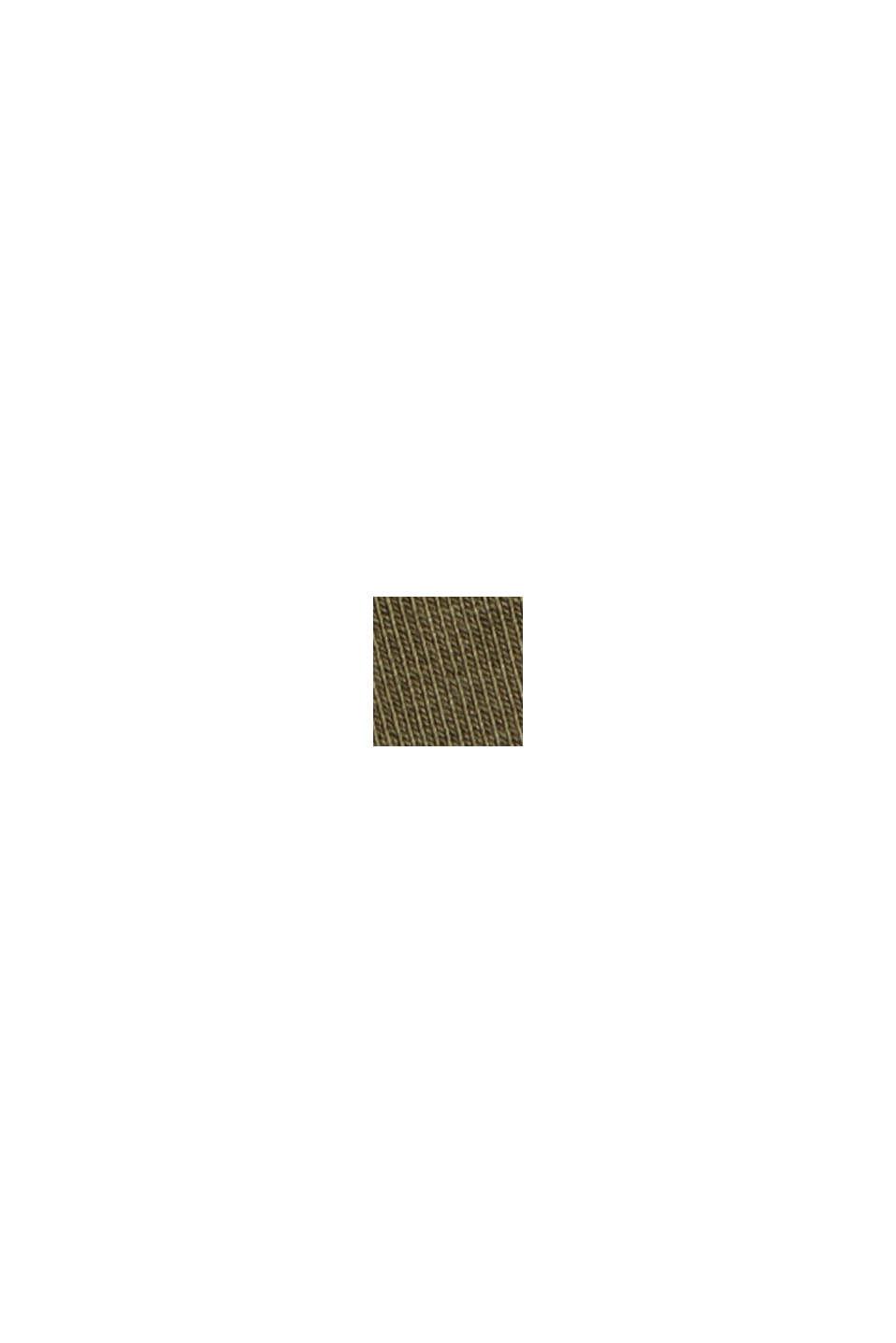 Langærmet top med rullekrave, i økologisk bomuld, DARK KHAKI, swatch