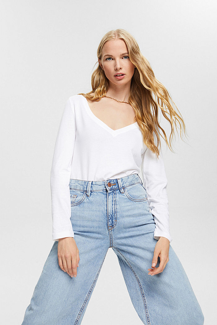 Pakke med 2 langærmede T-shirt af økologisk bomuldsblanding