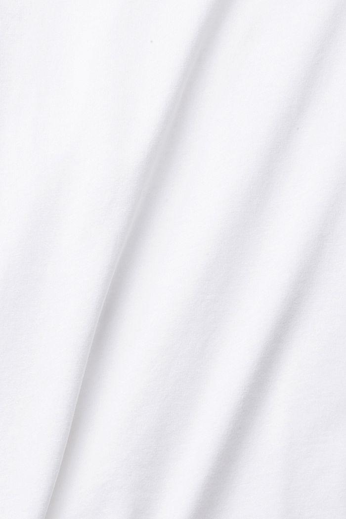 Maglia a maniche lunghe in confezione doppia, realizzata in misto cotone biologico, WHITE, detail image number 3