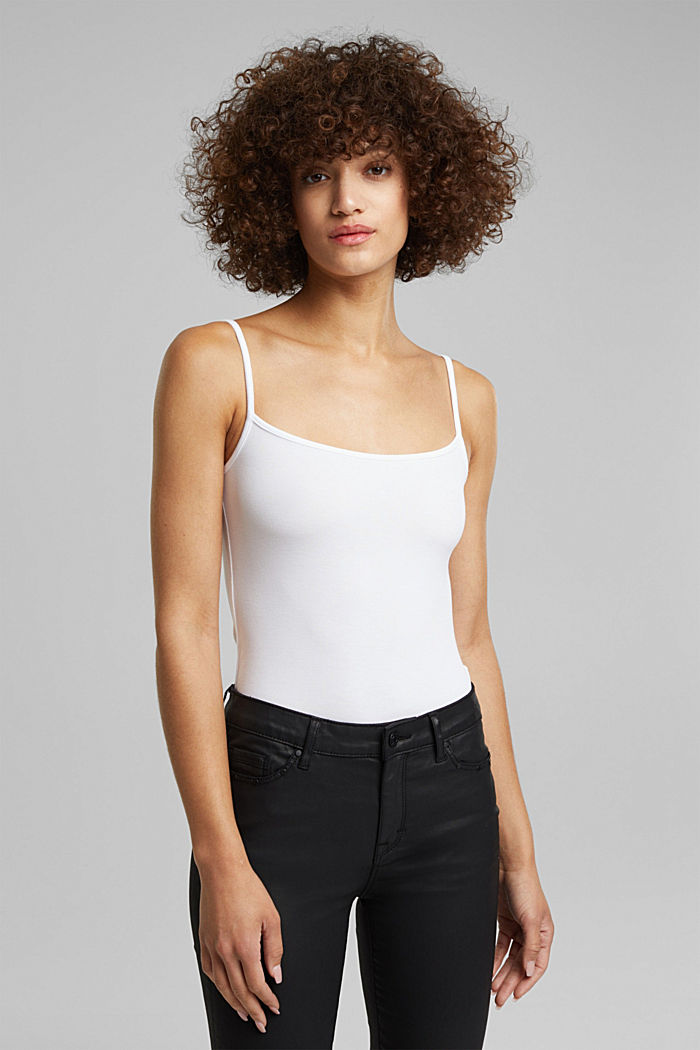 Double pack of strappy tops, WHITE, detail image number 0