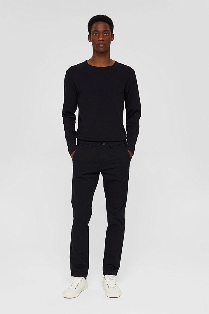 Chino en coton biologique à anneau porte-clés, BLACK, detail image number 7