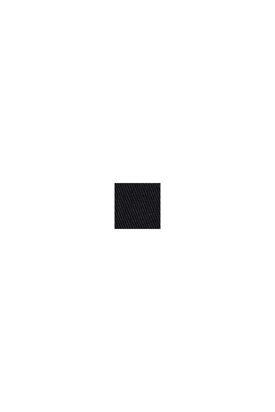 Chino van biologisch katoen met sleutelring, BLACK, swatch