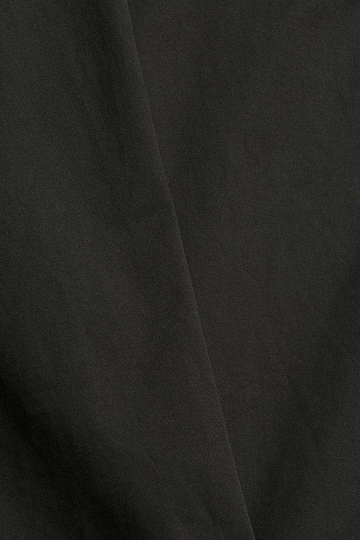 Chino in cotone biologico con anello portachiavi, DARK GREY, detail image number 4