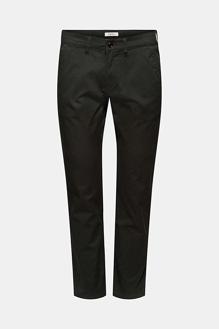 Kalhoty chino z bio bavlny s kroužkem na klíče