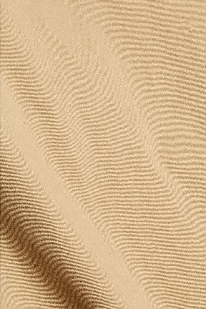 Chino in cotone biologico con anello portachiavi, BEIGE, detail image number 4