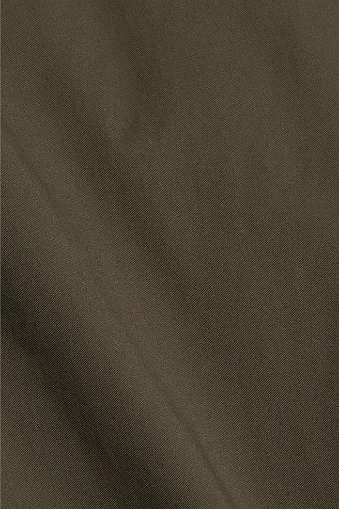 Chino in cotone biologico con anello portachiavi, DARK KHAKI, detail image number 4
