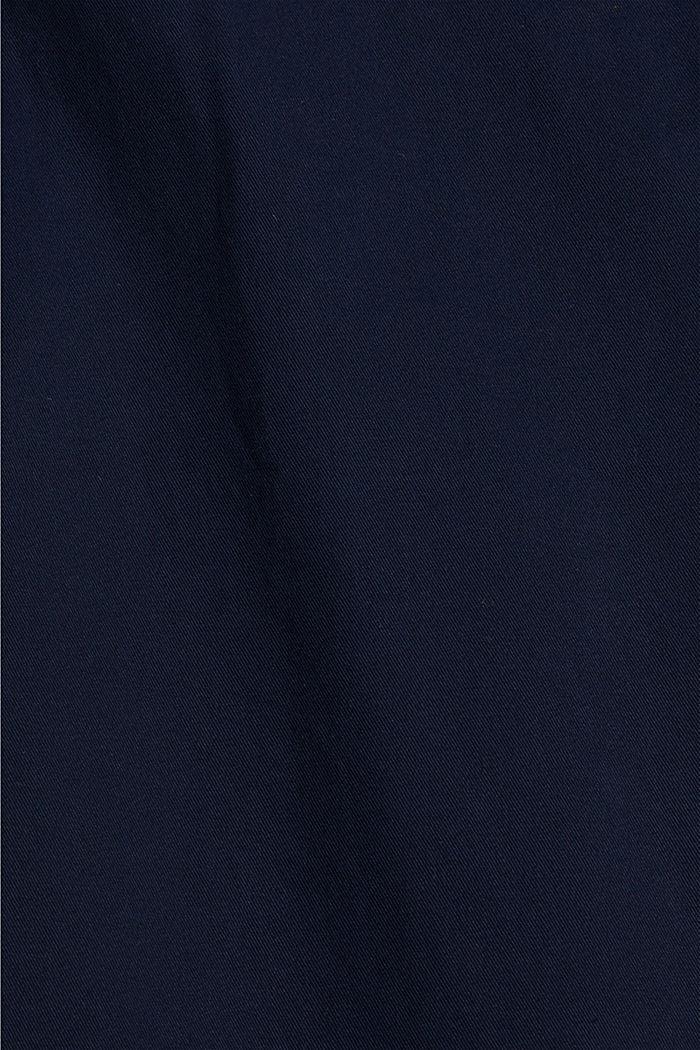 Chino in cotone biologico con anello portachiavi, NAVY, detail image number 4
