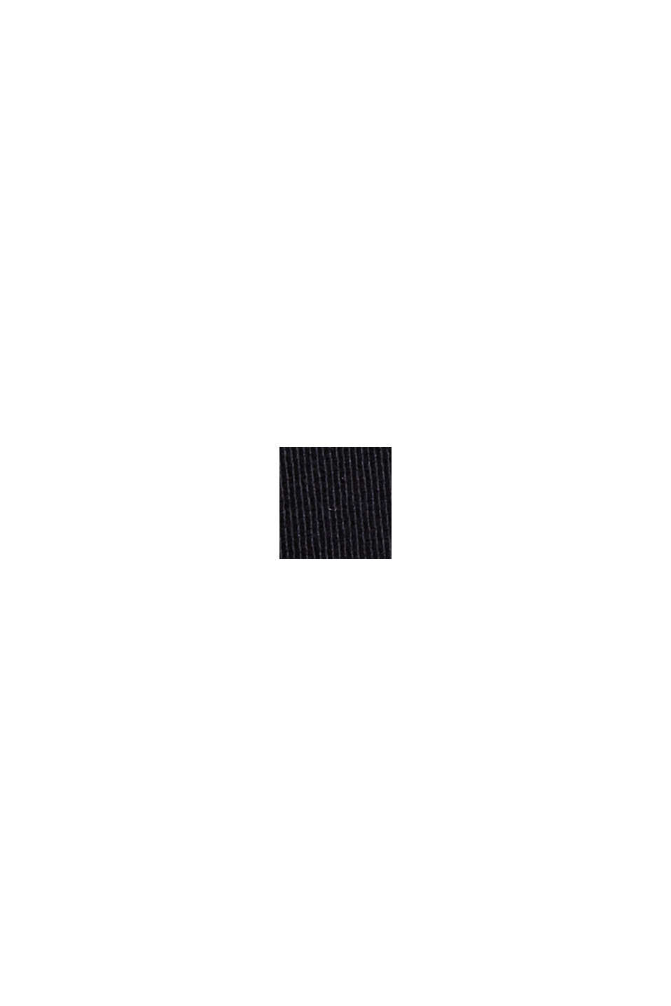 Chino dritti in cotone biologico, BLACK, swatch