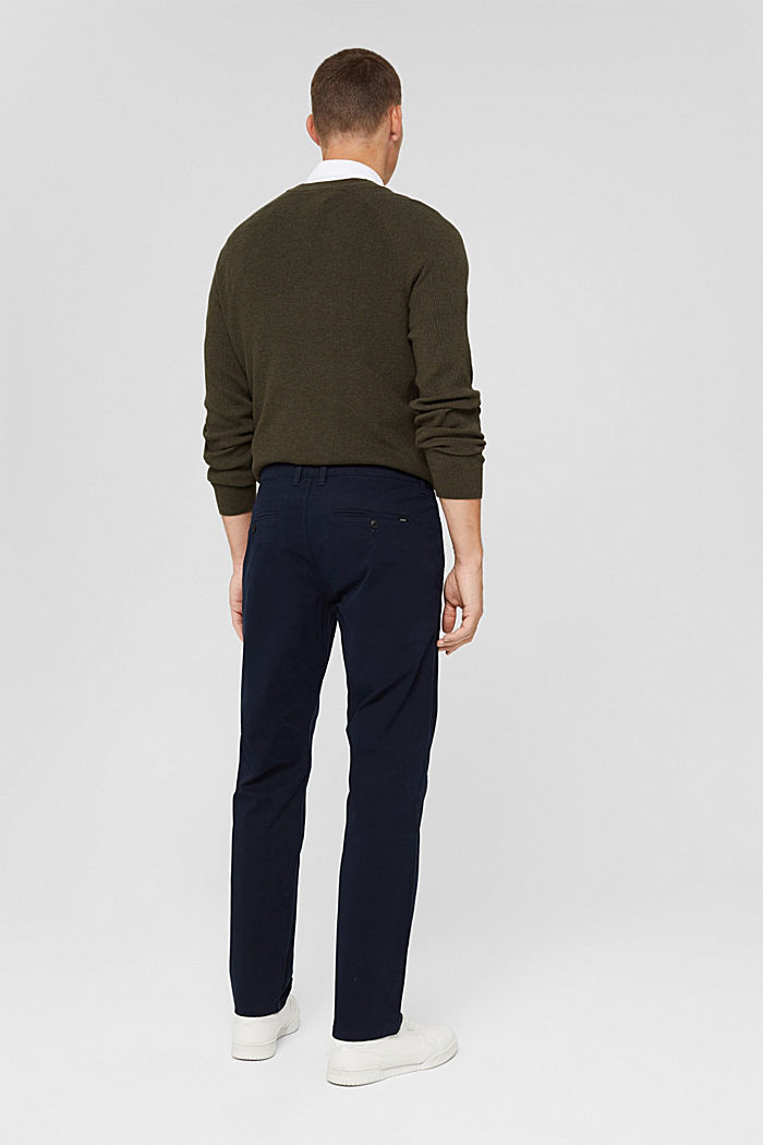 Straight chinos in organic cotton, NAVY, detail image number 3