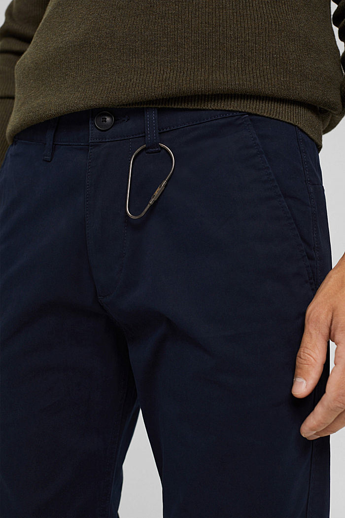 Straight chinos in organic cotton, NAVY, detail image number 2