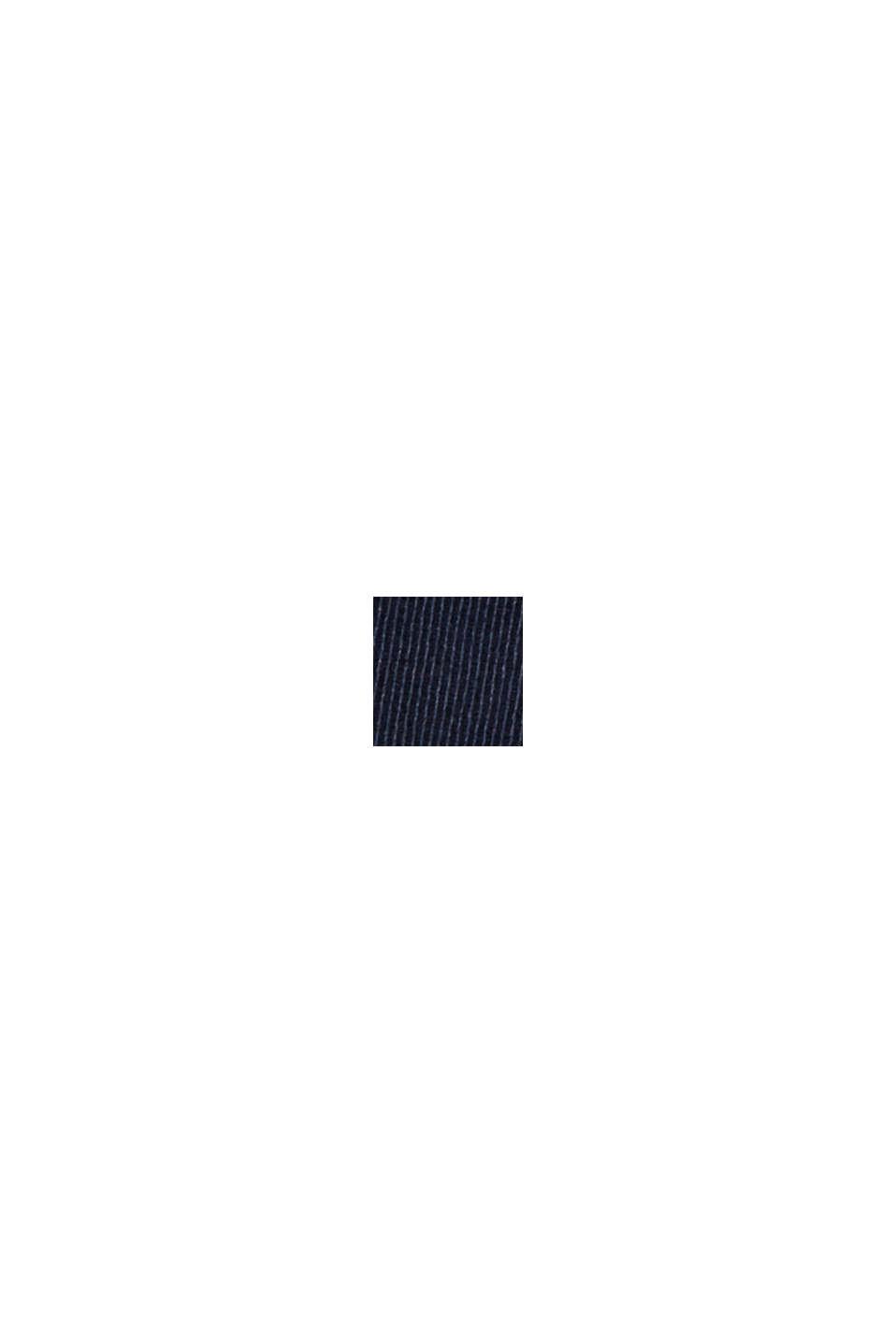 Chino dritti in cotone biologico, NAVY, swatch