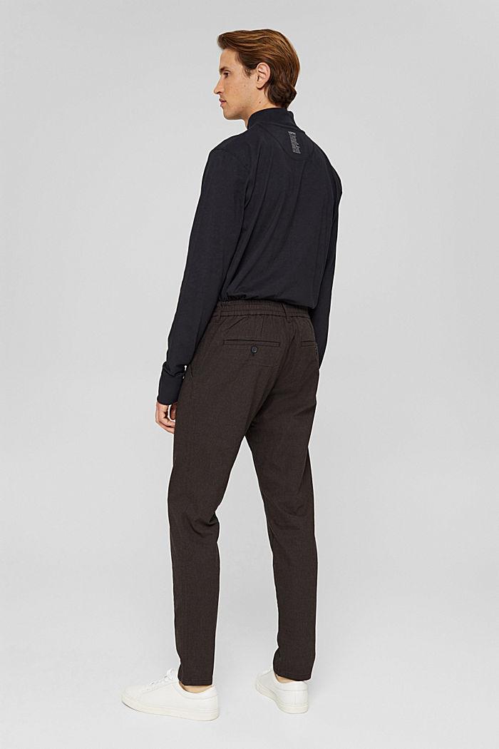 2-Tone Anzughose aus Baumwoll-Mix, DARK BROWN, detail image number 3