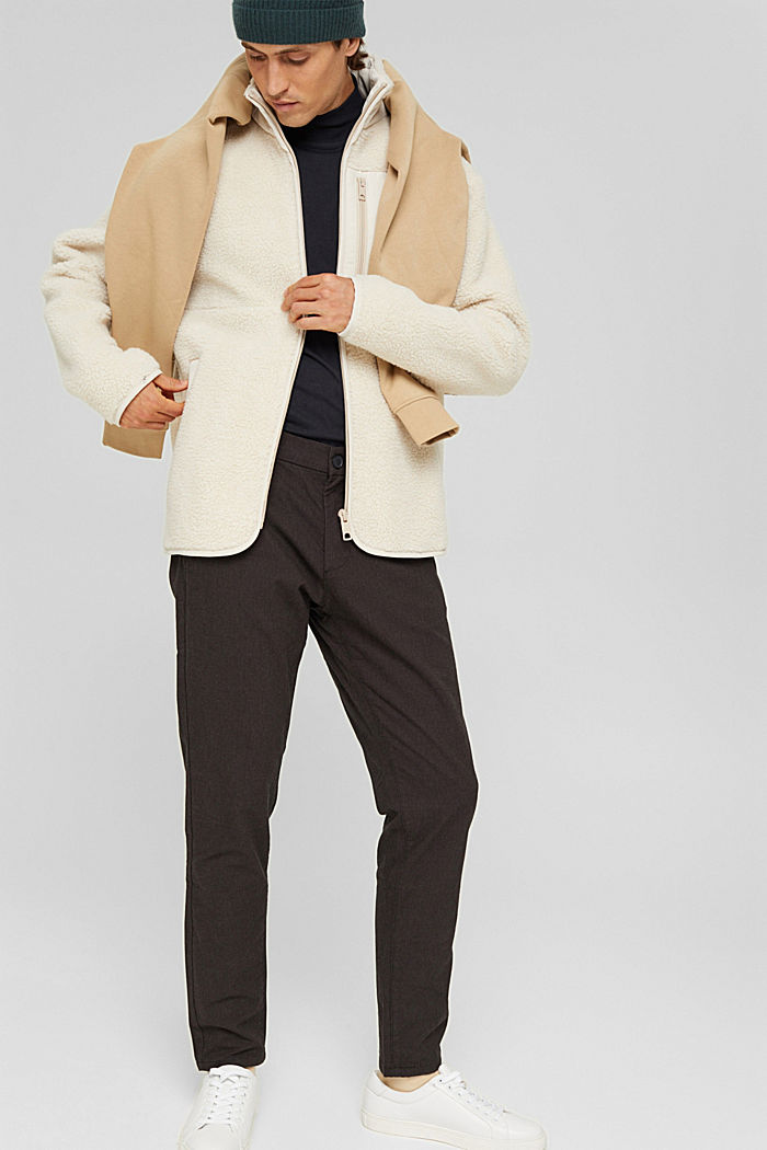Pantaloni da completo bicolore in misto cotone