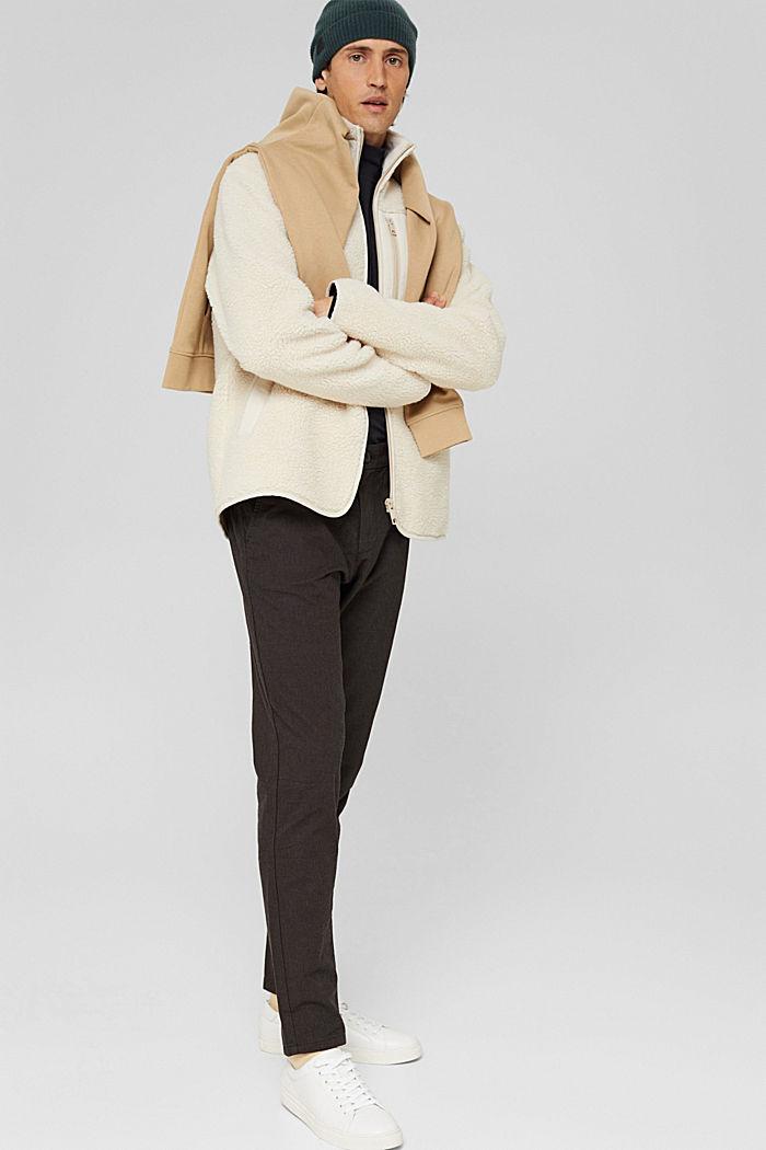 2-Tone Anzughose aus Baumwoll-Mix, DARK BROWN, detail image number 1