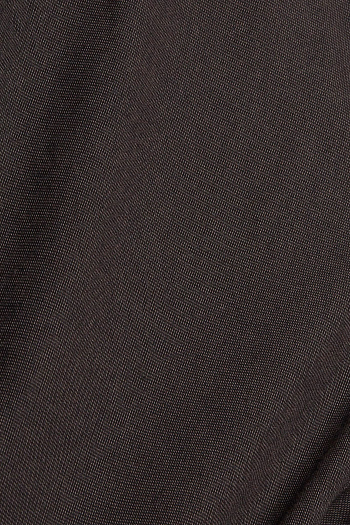 2-Tone Anzughose aus Baumwoll-Mix, DARK BROWN, detail image number 4