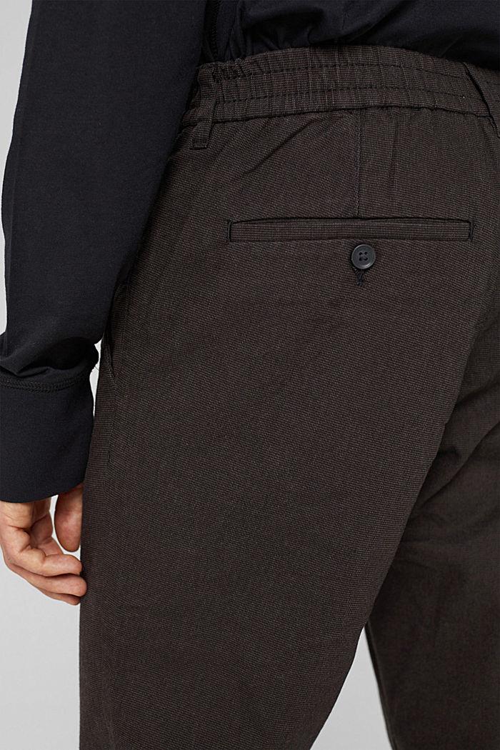 2-Tone Anzughose aus Baumwoll-Mix, DARK BROWN, detail image number 5