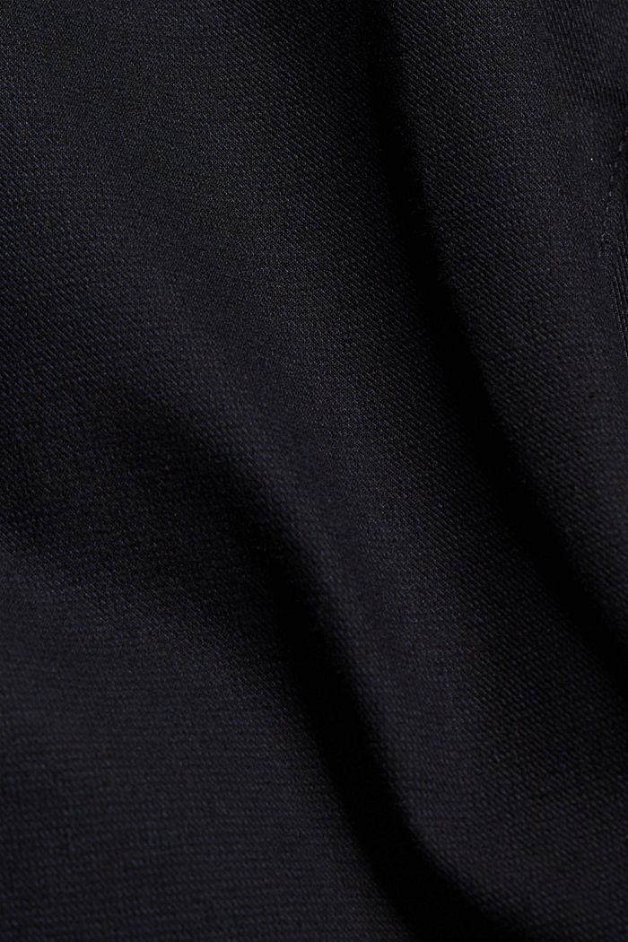 Two-tone suit trousers made of blended cotton, NAVY, detail image number 4