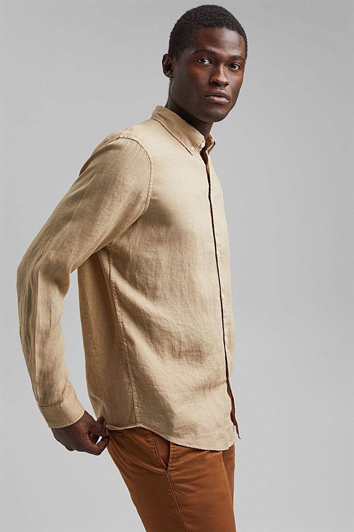 Button-Down-Hemd aus 100% Leinen