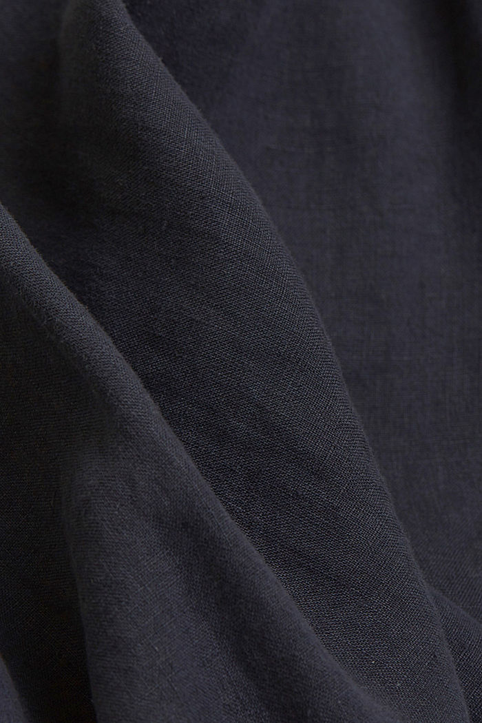 Button-down shirt made of 100% linen, NAVY, detail image number 4