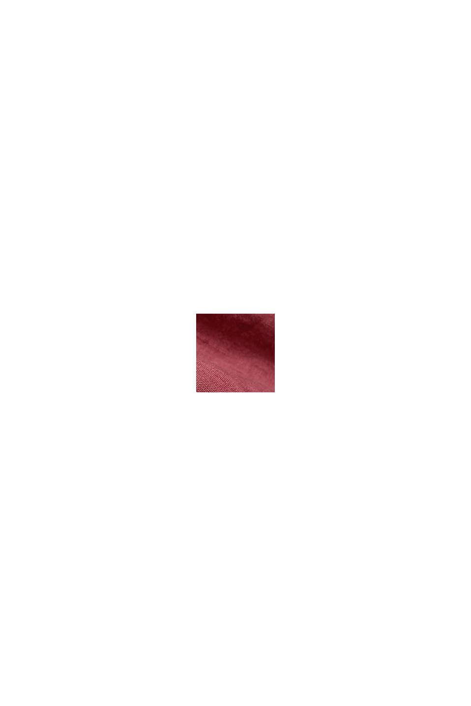 Button-down-skjorta, 100% linne, BERRY RED, swatch