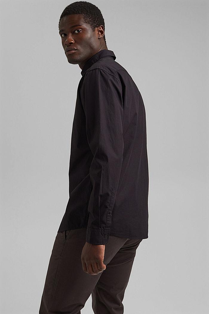 Shirt made of 100% pima organic cotton, BLACK, detail image number 3