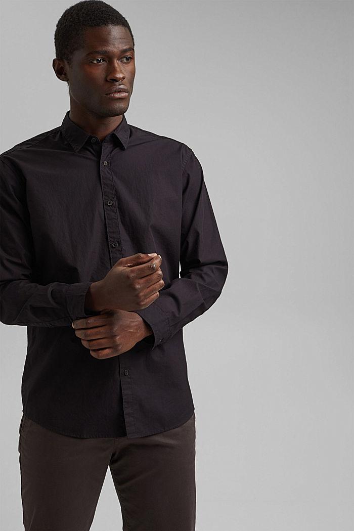 Shirt made of 100% pima organic cotton, BLACK, detail image number 5