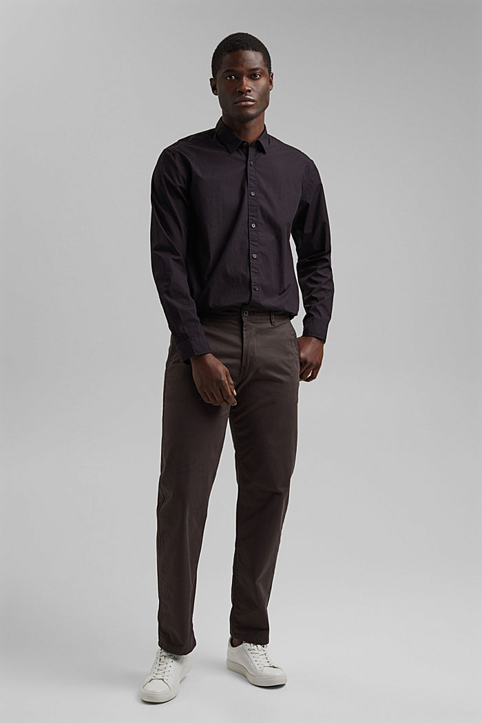 Shirt made of 100% pima organic cotton, BLACK, detail image number 7