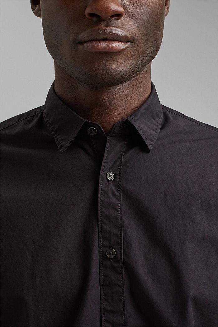 Shirt made of 100% pima organic cotton, BLACK, detail image number 2