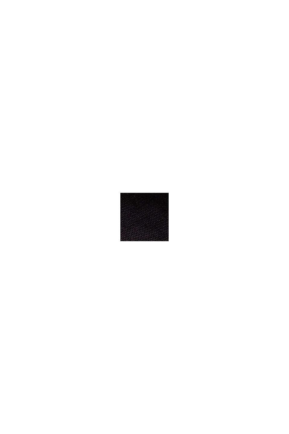 Overhemd van 100% biologisch pima katoen, BLACK, swatch
