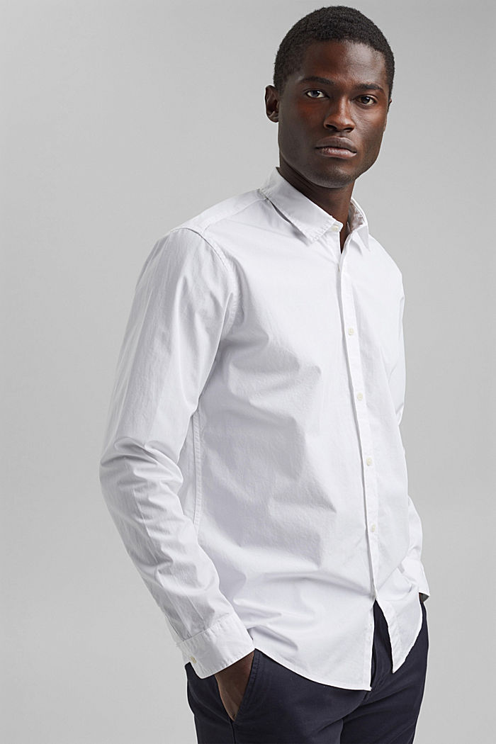 Shirt made of 100% pima organic cotton, WHITE, detail image number 0