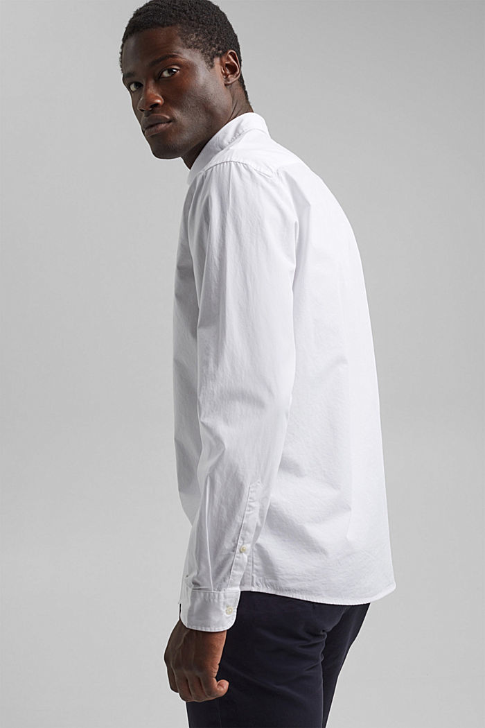 Shirt made of 100% pima organic cotton, WHITE, detail image number 3