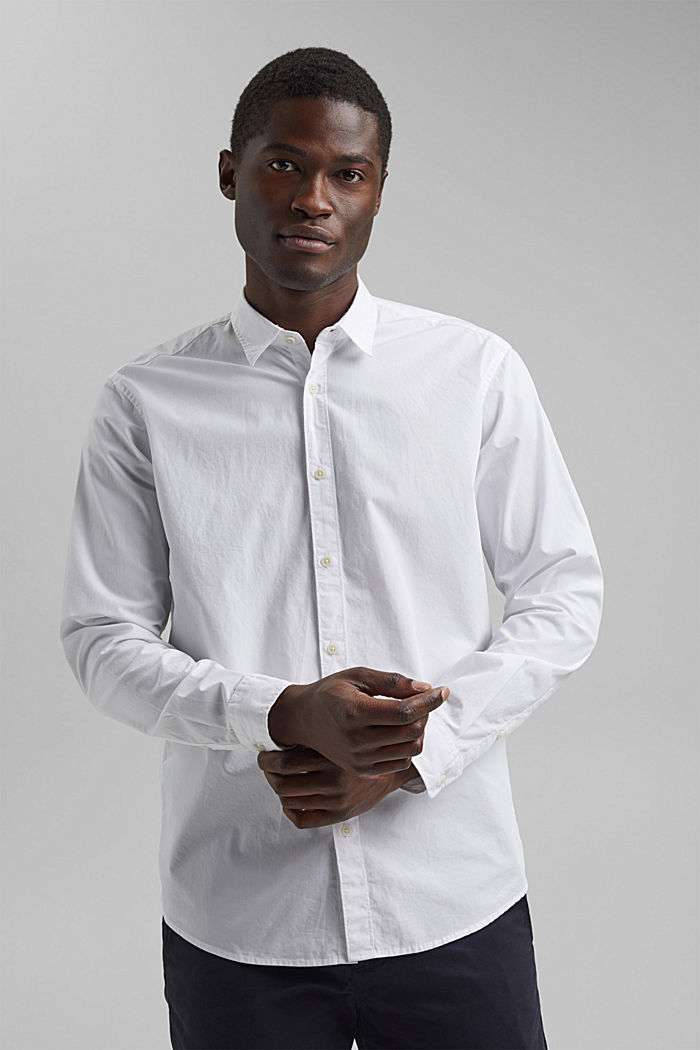Shirt made of 100% pima organic cotton, WHITE, detail image number 5