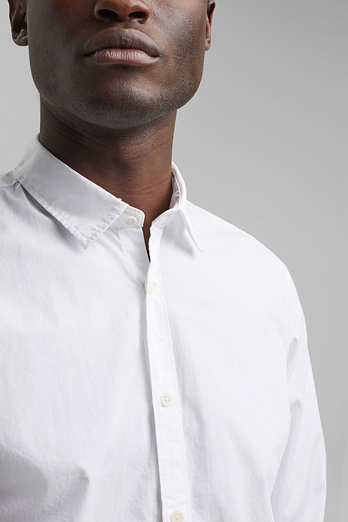 Shirt made of 100% pima organic cotton, WHITE, detail image number 2