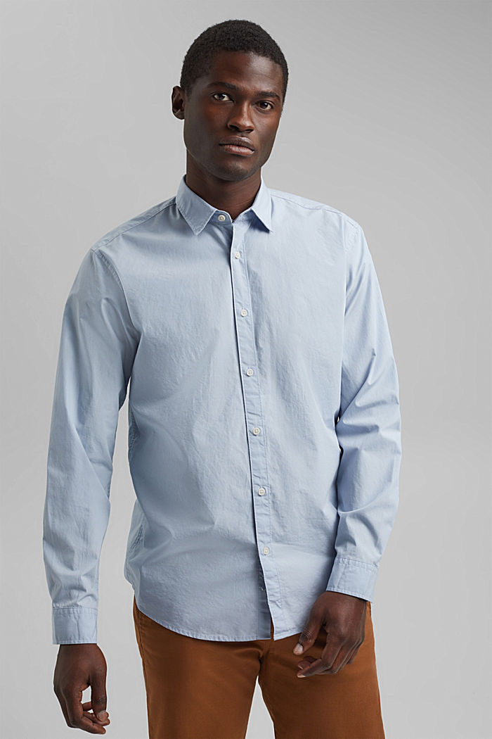Shirt made of 100% pima organic cotton, LIGHT BLUE, detail image number 0