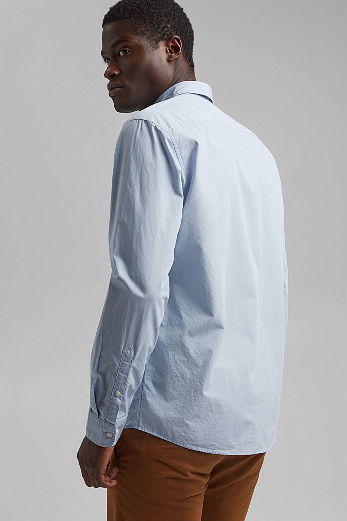 Shirt made of 100% pima organic cotton, LIGHT BLUE, detail image number 3