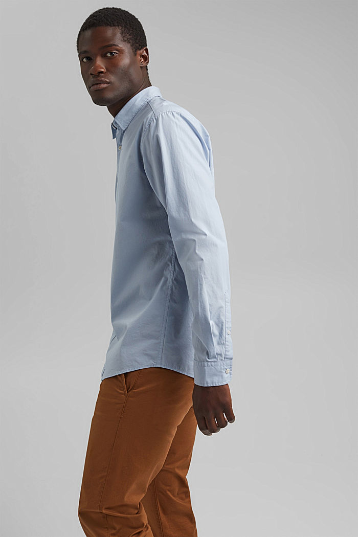 Shirt made of 100% pima organic cotton, LIGHT BLUE, detail image number 5