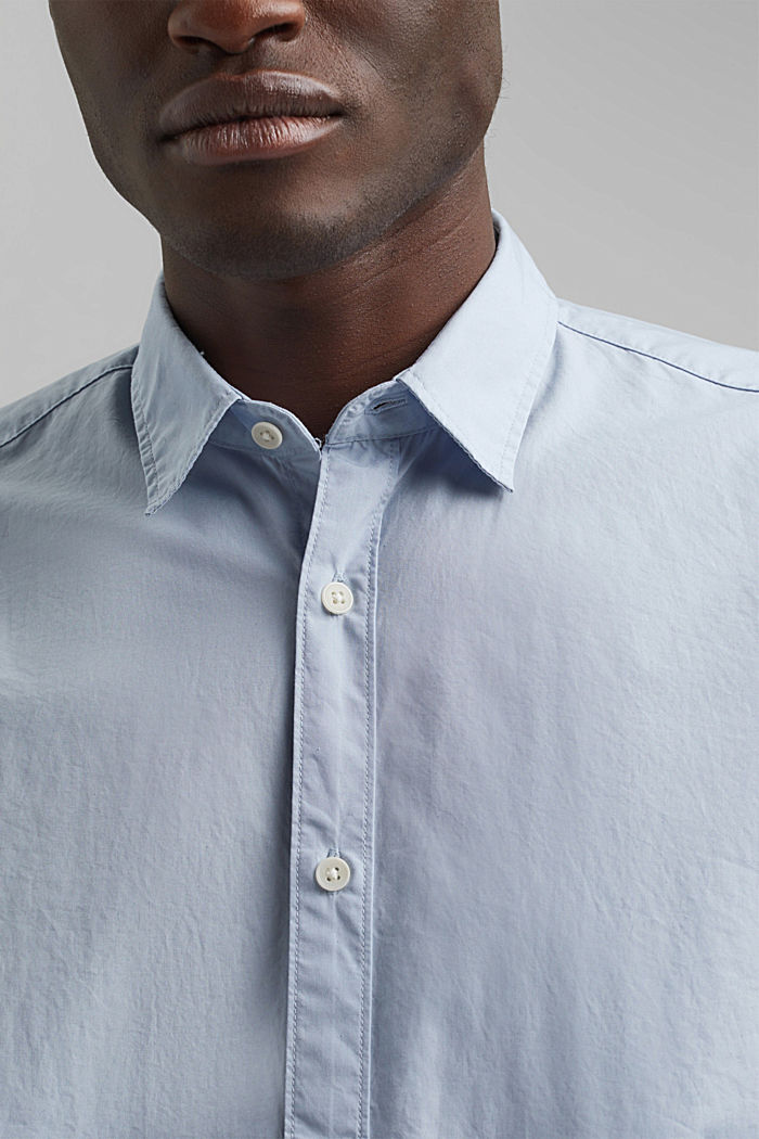 Shirt made of 100% pima organic cotton, LIGHT BLUE, detail image number 2