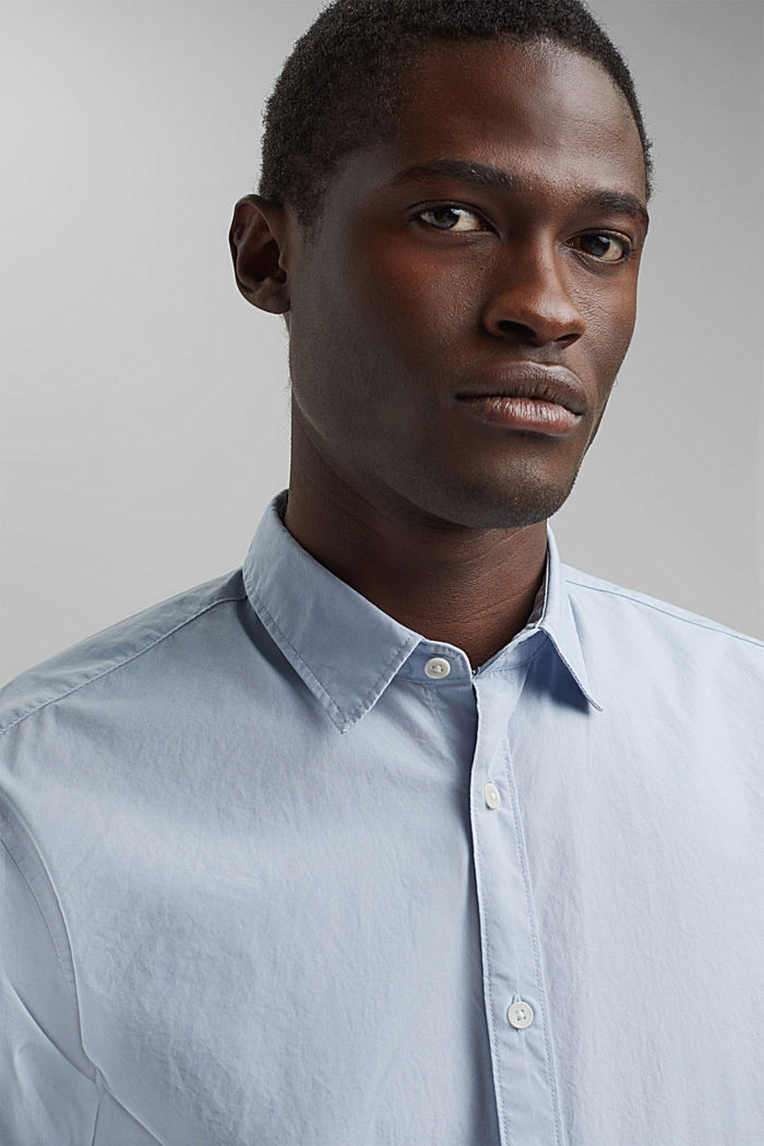 Shirt made of 100% pima organic cotton, LIGHT BLUE, detail image number 6