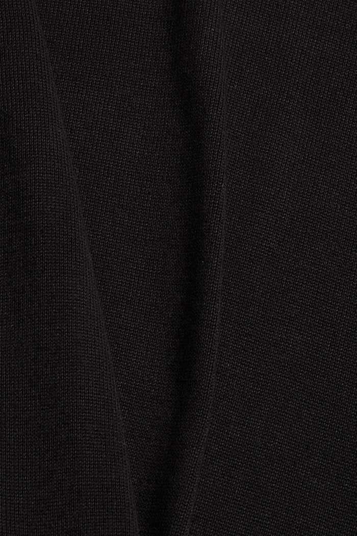 Pull-over basique, 100% coton Pima, BLACK, detail image number 4