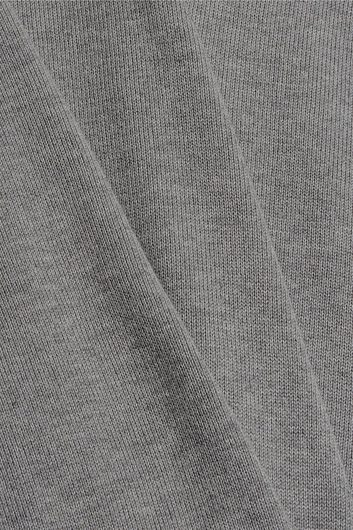 Basic jumper made of 100% Pima cotton, MEDIUM GREY, detail image number 4