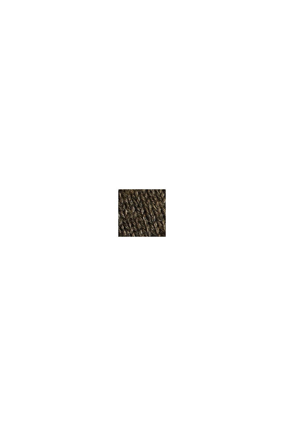 Basic trui van 100% pima katoen, DARK KHAKI, swatch