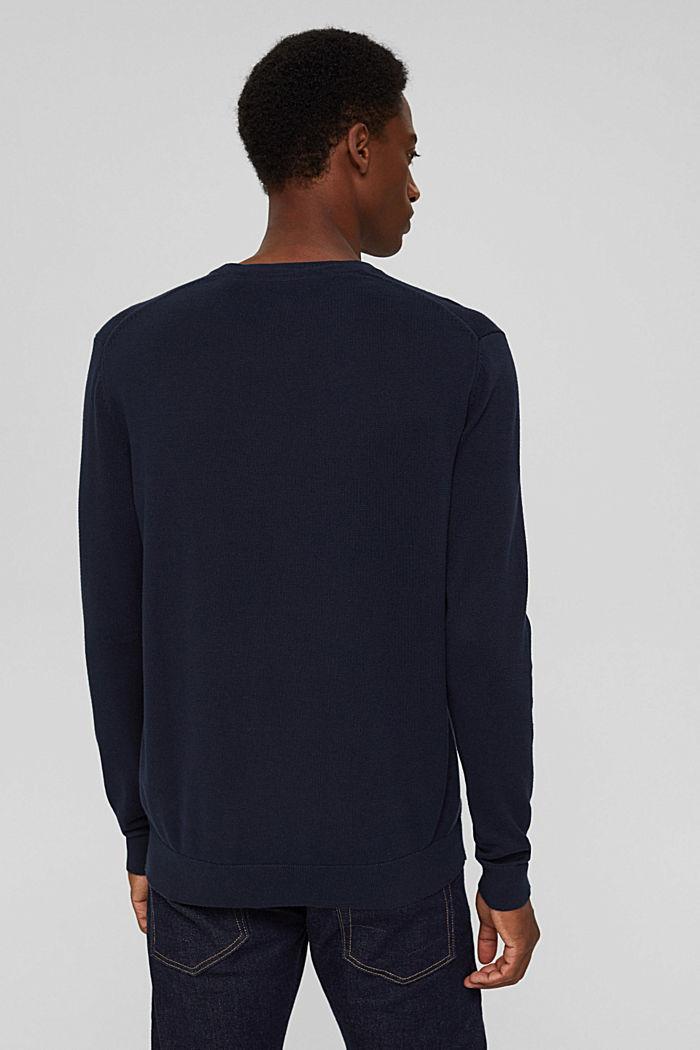 Basic jumper made of 100% Pima cotton, NAVY, detail image number 3