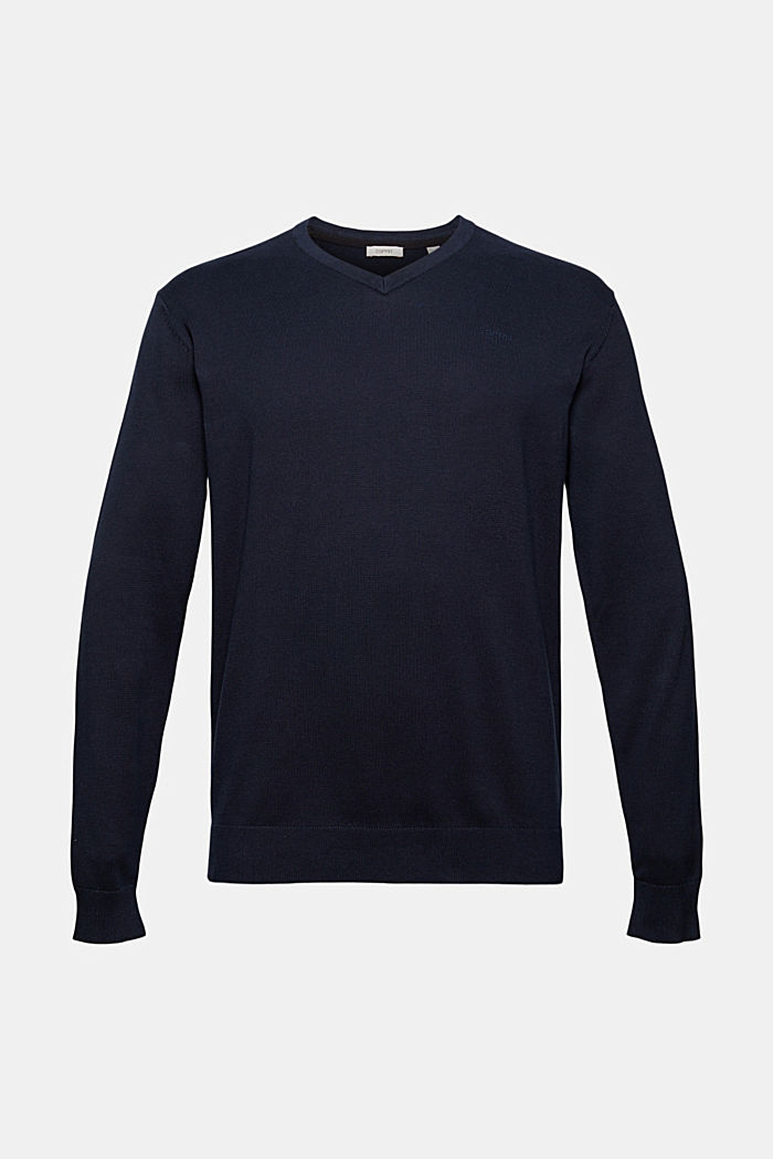 Basic jumper made of 100% Pima cotton, NAVY, detail image number 6