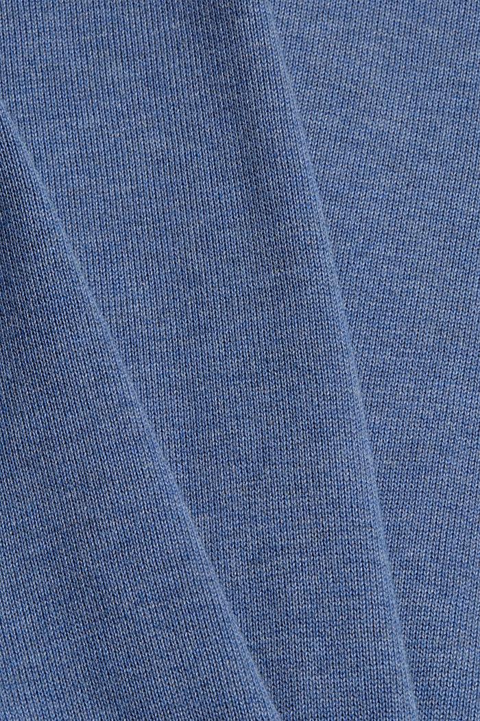 Pull-over basique, 100% coton Pima, BLUE, detail image number 4