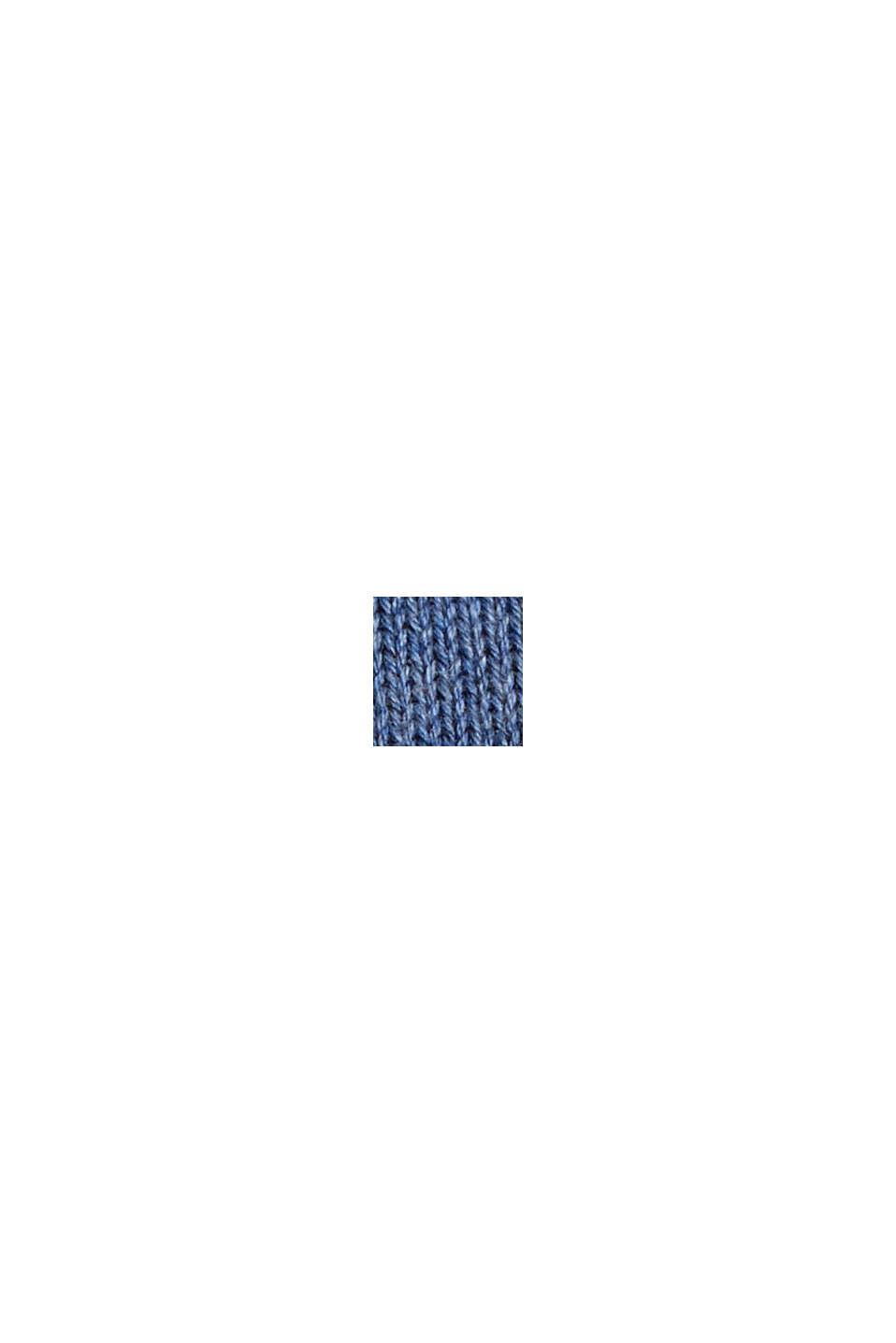 Basispullover i 100% pima-bomuld, BLUE, swatch