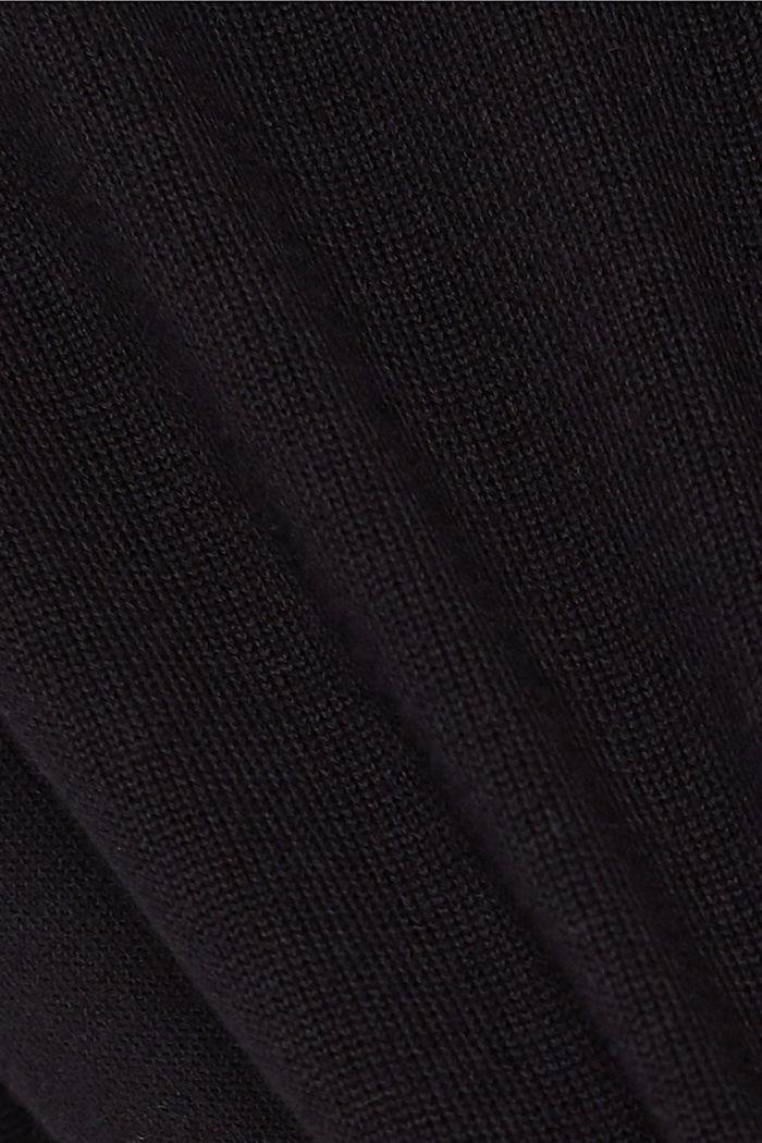 Zip cardigan made of 100% organic cotton, BLACK, detail image number 4